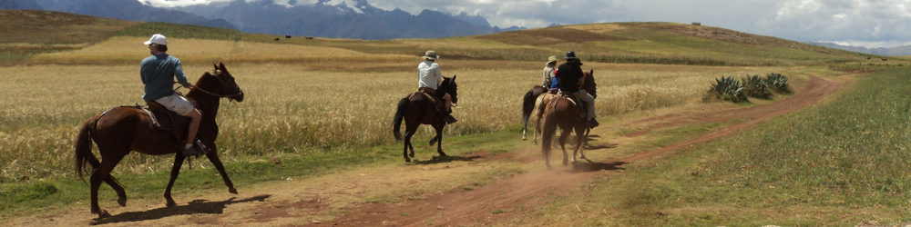 Horseback Riding in Cusco Maras chinchero moray salt mines